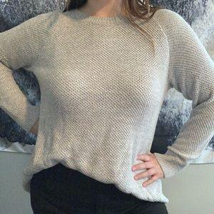 Open Back Grey Knit Sweater